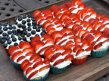 4th of July desserts - a flag cake