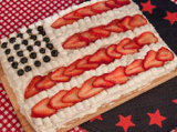 4th of July flag cakes