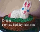 Easter homemade gifts - easter bunny cake