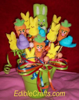 Easy easter crafts easter candy basket craft from homemade easter baskets negle Choice Image