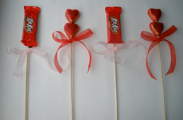 Valentines Gift Ideas Candy Bouquet Diy From Ediblecrafts Com