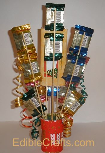 christmas gifts to make candy bar bouquet