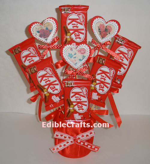 Valentines Crafts How To Make A Chocolate Bouquet