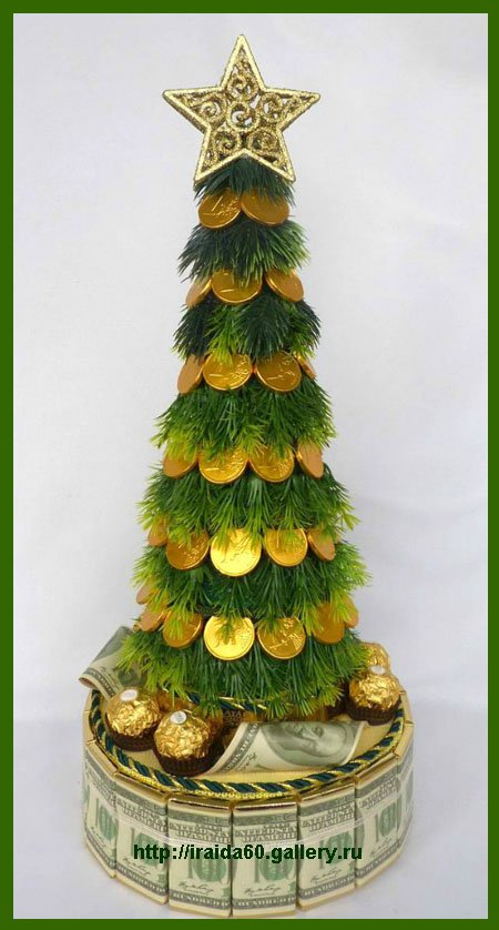Christmas Table Centerpiece Ideas   Holiday Tree With Chocolate Coins Part 68