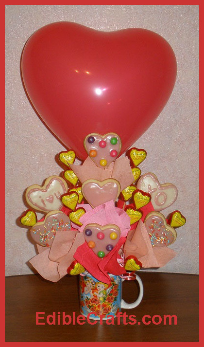 Cute valentines day gifts how to make a cookie bouquet for Best online valentines gifts