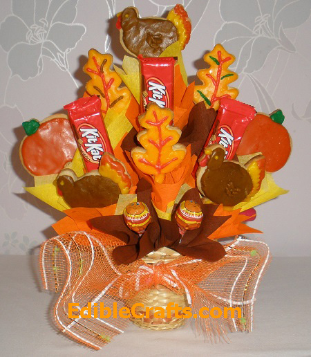 Thanksgiving Cookie Crafts: Thanksgiving Gift Ideas Homemade Cookie Bouquet From