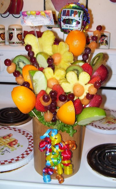 how to make fruit arrangements from
