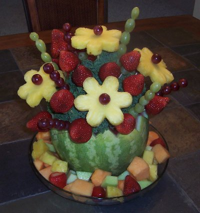 Fruit arrangements for kids party Fruit bouquet